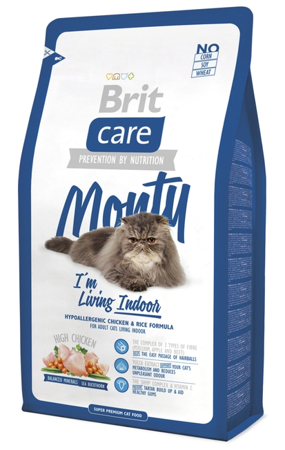 Brit Care Cat Monty Indoor Chicken & Rice Брит для кошек живущих в помещении. Курица и Рис
