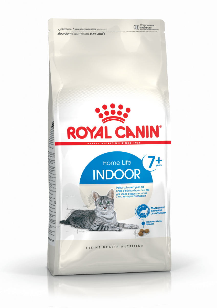 Сухой корм для домашних кошек старше 7 лет Royal Canin Indoor + 7