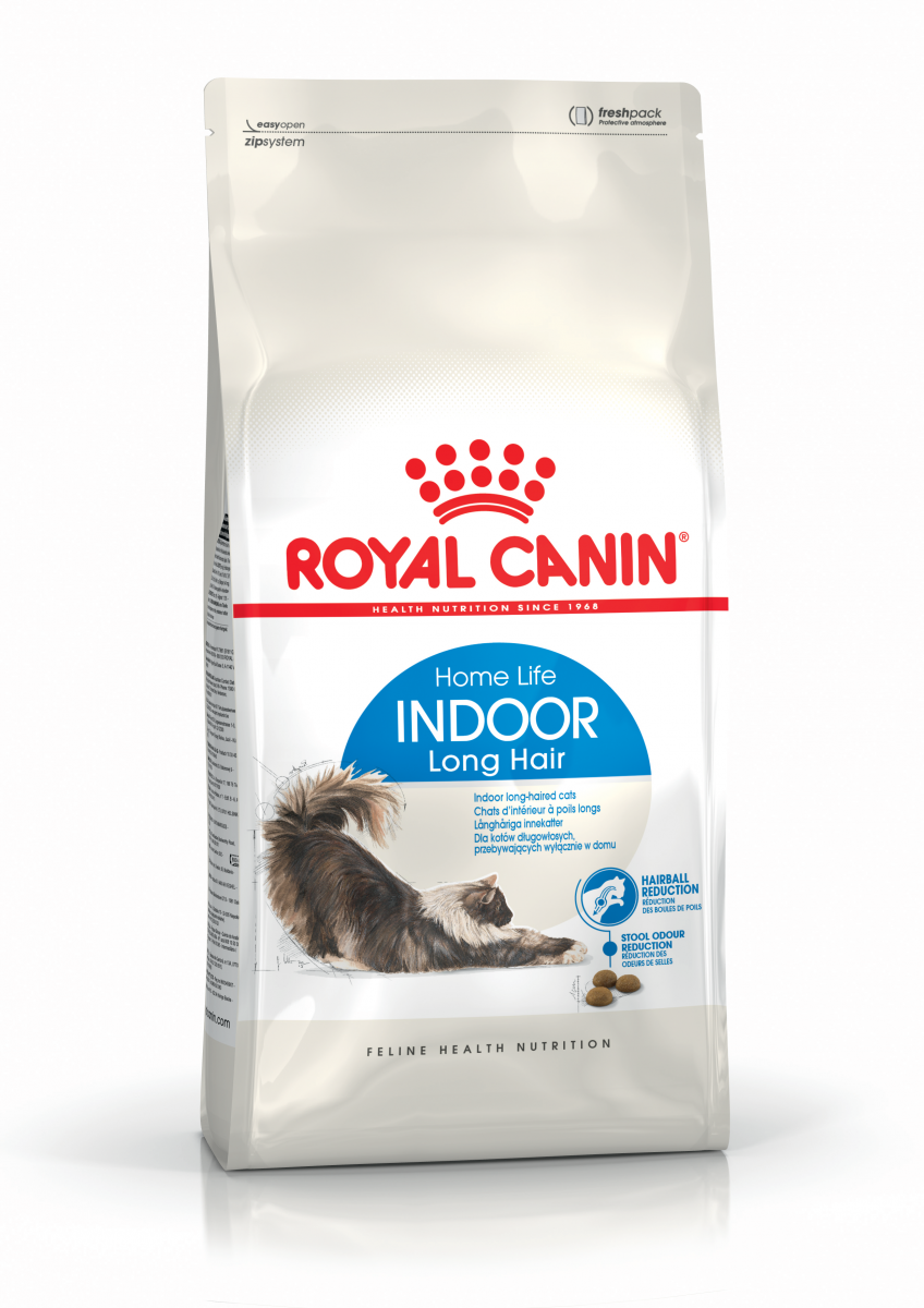 Сухой корм для домашних кошек с длинной шерстью Royal Canin INDOOR LONG HAIR 35